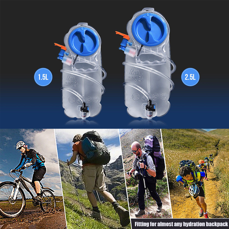 1.5L 2.5L Water Bladder Bag Hydration Pack Bag BPA-free Insulated Tube Outdoor Sports Travel Training Equipment