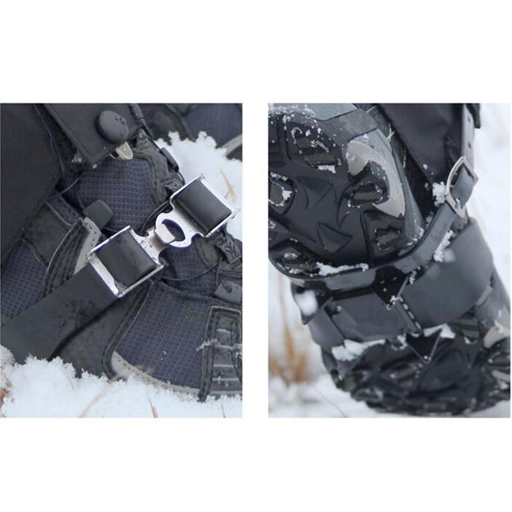 Mounchain Открытый Анти-скольжения 4-зубы лента шаблон Лыжная обувь охватывает унисекс марганца Сталь Скоба для катания на коньках для снежной погоды