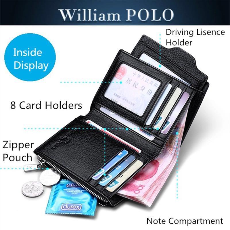 Brieftasche Mit Brown Luxus Abnehmbarer Marke Black Multifunktions Brown standard Kupplung Qualität smooth Männer Echtes Männlichen smooth Geldbörse Card Leder Top Slots Standard Black AwxtqFxpXc