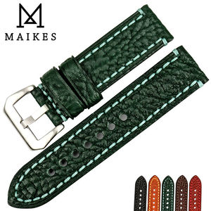 Image 5 - MAIKES New watch accessories 20 22 24 26mm Italian cow leather watchbands brown watch strap for fossil watch band