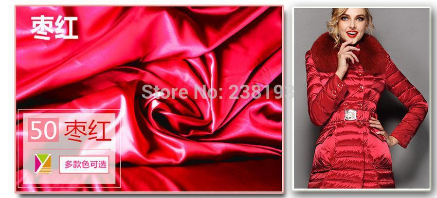 Beautiful 30D 320T nylon fabric waterproof down jacket, ski clothing fabrics.Soft material.Shiny nylon coat fabric beautiful darkness