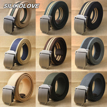 3.8cm Braided Canvas Belt Tactical Buckle for Men Women Automatic Casual Apparel Accessories