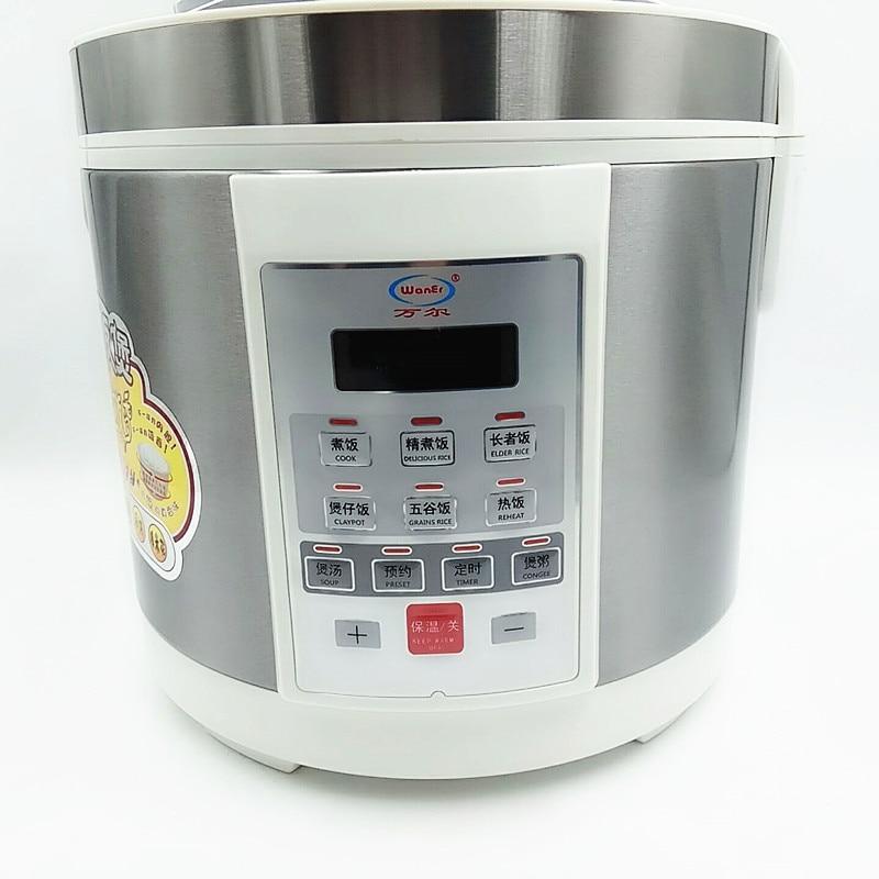 220 В 3L 4L 5L Электрический Риса Плита высокое Температура устойчивостью Керамика Многофункциональный Электрический Риса Плита с Английский кнопку
