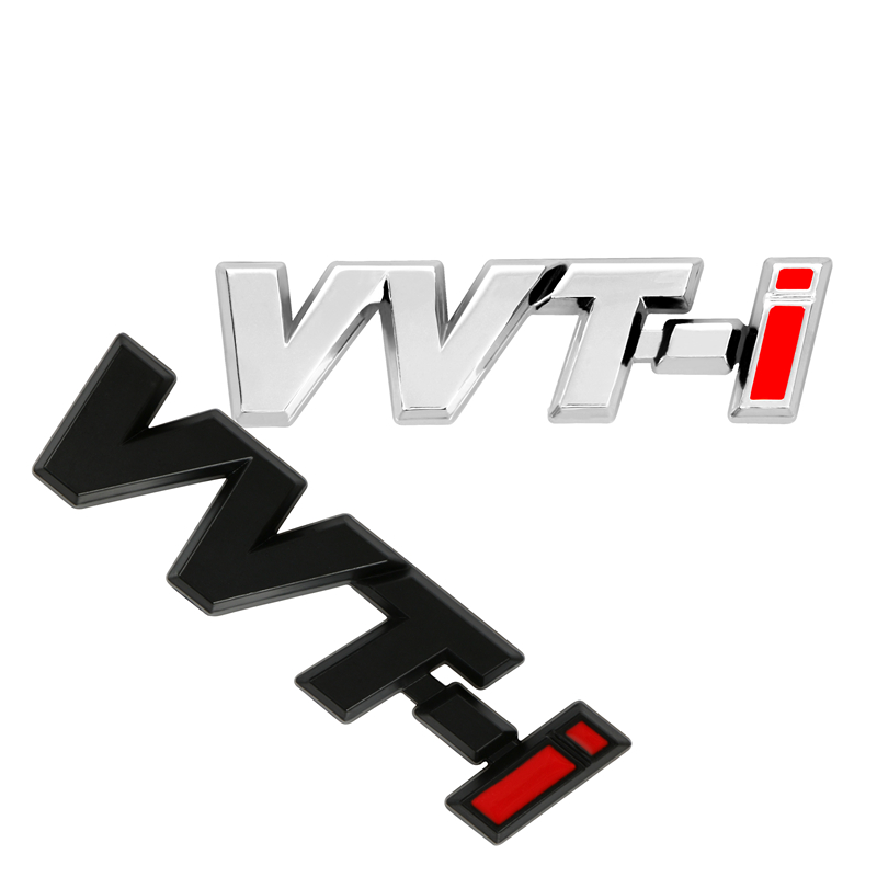 3D SUV Trunk Badge Side Fender Tail Emblem VVTI VVT-I Sticker Logo Zinc Alloy