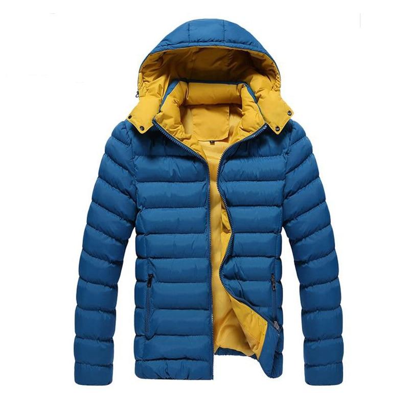 ФОТО 2016 Men Winter Jacket Coats Men's Cotton Outerwear Large Size M-3XL Super Warm Parkas Hooded Design Man Down