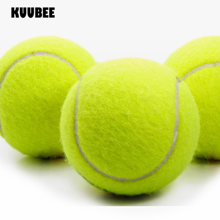 100pcs/lot Tennis Ball 63mm Beginners High Resilience Durable Exercise Practice Tennis Training Ball