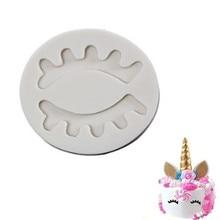 TTLIFE Unicorn Eye Silicone Mold Baby Birthday Cake Decorating Tools Fondant Chocolate Candy Clay Gumpaste Baking Molds