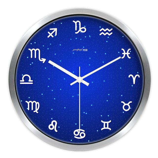 Creative Constellation Living Room Quiet Quartz Wall Clock Home Decoration Bedroom Fashion Creative Wall Clocks