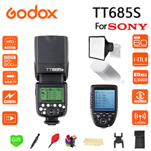 Godox TT685S Flash 2.4G HSS 1/8000s TTL Camera + 15*17cm softbox XPRO-S for Sony DSLR Cameras A77II A7RII A7R A58 A99