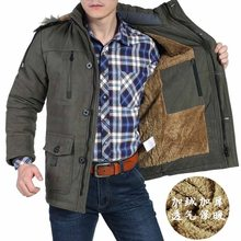 Winter Jacket Men 5XL 6XL Cotton Padded Warm Parka Coat Casual Faux Fur Hooded Fleece Long Male Jacket Windbreaker Men(China)