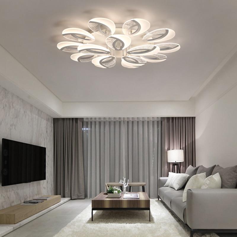 Modern LED ceiling Chandelier lighting dining room plafond avize Indoor Ceiling Lamp bedroom living room Chandelier fixtures