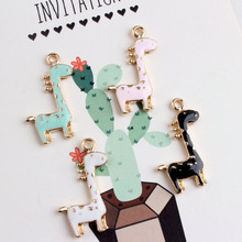 10pcs/pack DIY Material Cute Long Deer Pendant Jewelry Findings Cartoon Animal Metal Charms Handmade Earring Accessory YZ206