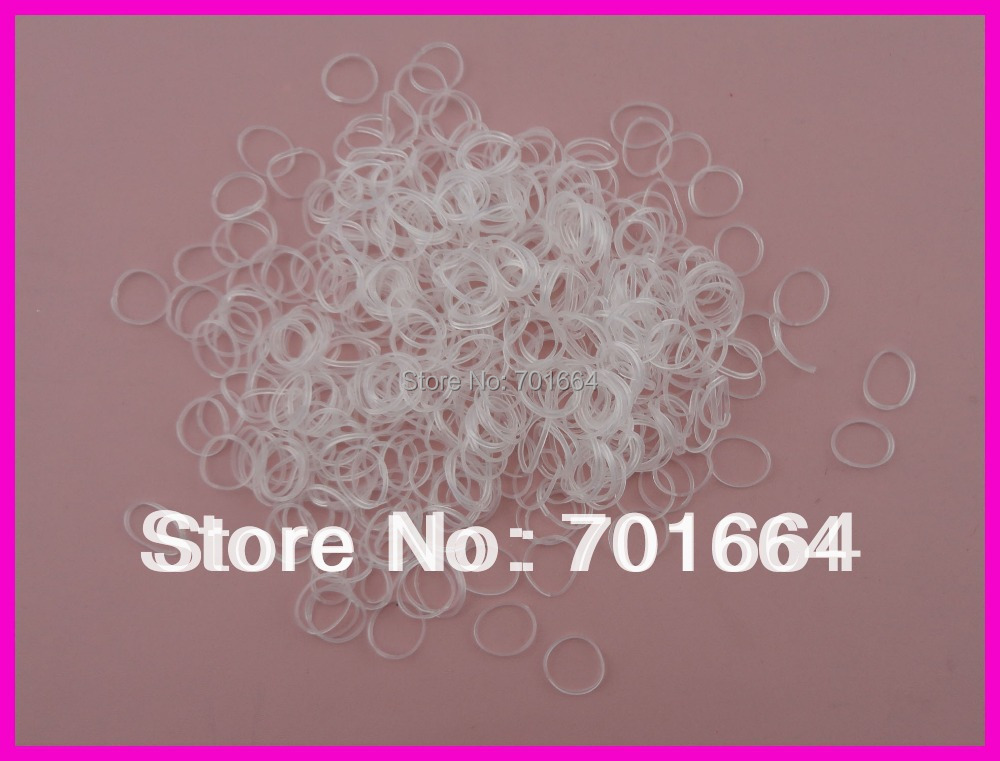 2000PCS 4.0cm 1.6 length white mini rubber Hair band for Rope Ponytail,white Holder Elastic Hair Band,Ties Braids Plaits 300pcs pack rubber rope ponytail holder elastic hair bands ties braids plaits hair clip headband hair accessories