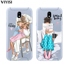 For Samsung galaxy a7 2018 case A6 A8 A5 J5 J7 J8 J6 J4 Plus Fundas Weekend Black Brown Hair Baby Mom Girl Queen Soft TPU Etui куртка lucky child lucky child mp002xc00p9k