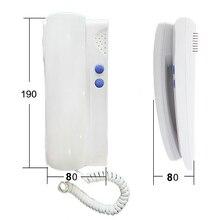 XinSiLu безопасности прямая Пресс ключ видео-телефон двери для внутренней установки, 5-проводной аудио видео домофон система ручка комплект