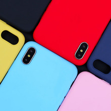 Luxury Silicone Case For iPhone 7 8 6 6S Plus Cases TPU Cover For iPhone Xr X XS MaX 5 SE 5S Matte Ultra thin Candy Color Coques цена и фото