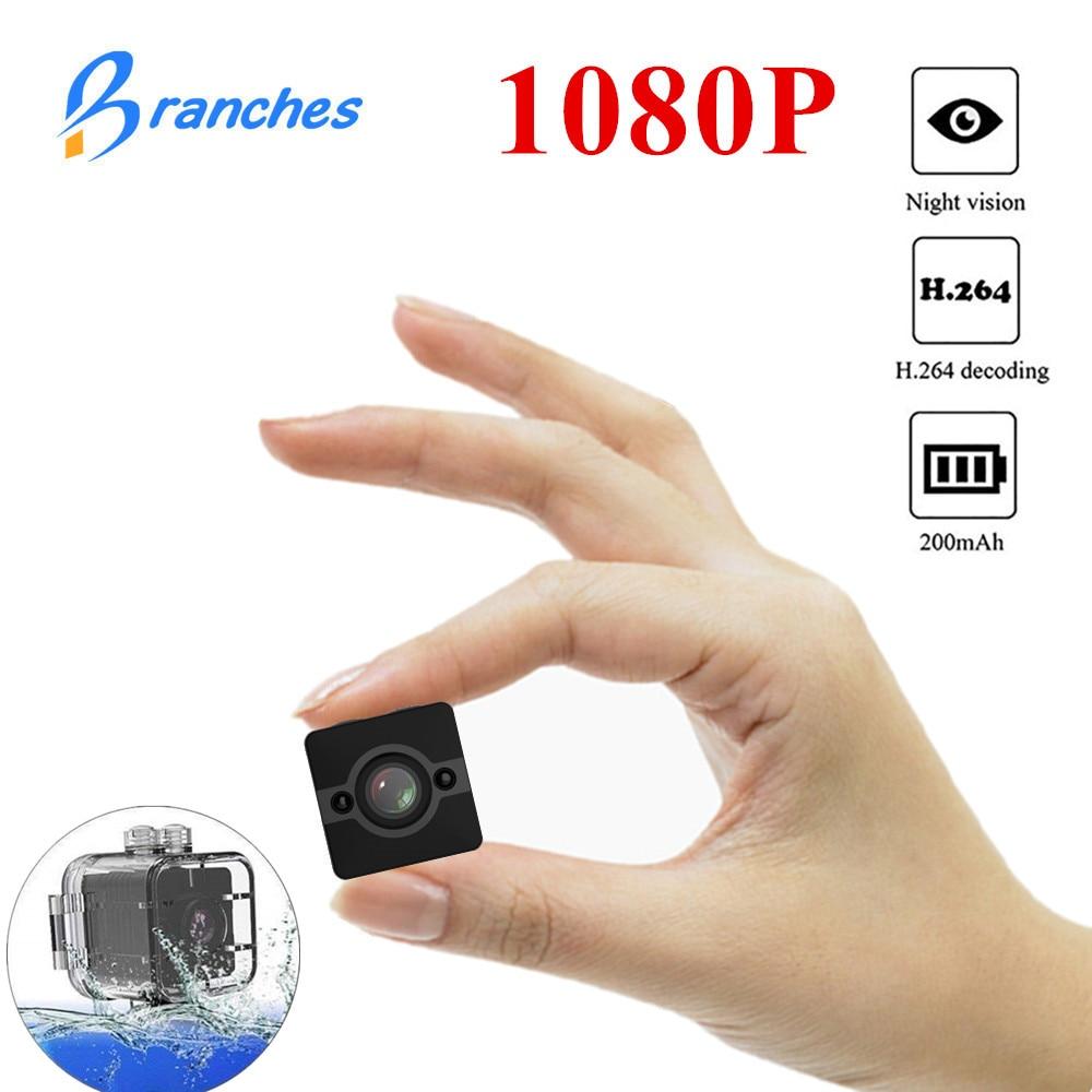 SQ12 HD mini cámara micro Cámara impermeable MINI videocámara pequeña cámara DVR Mini vídeo de la cámara del deporte cámara inalámbrica SQ 12 mini cámara