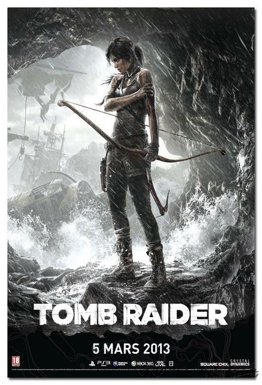tomb raider lara croft art silk poster print 12x18 24x36
