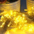 EU Plug String Fairy Lights Lamps 100 LED 10M Christmas Wedding Decoration Outdoor Lighting Party Supplies Home Decoration #KF