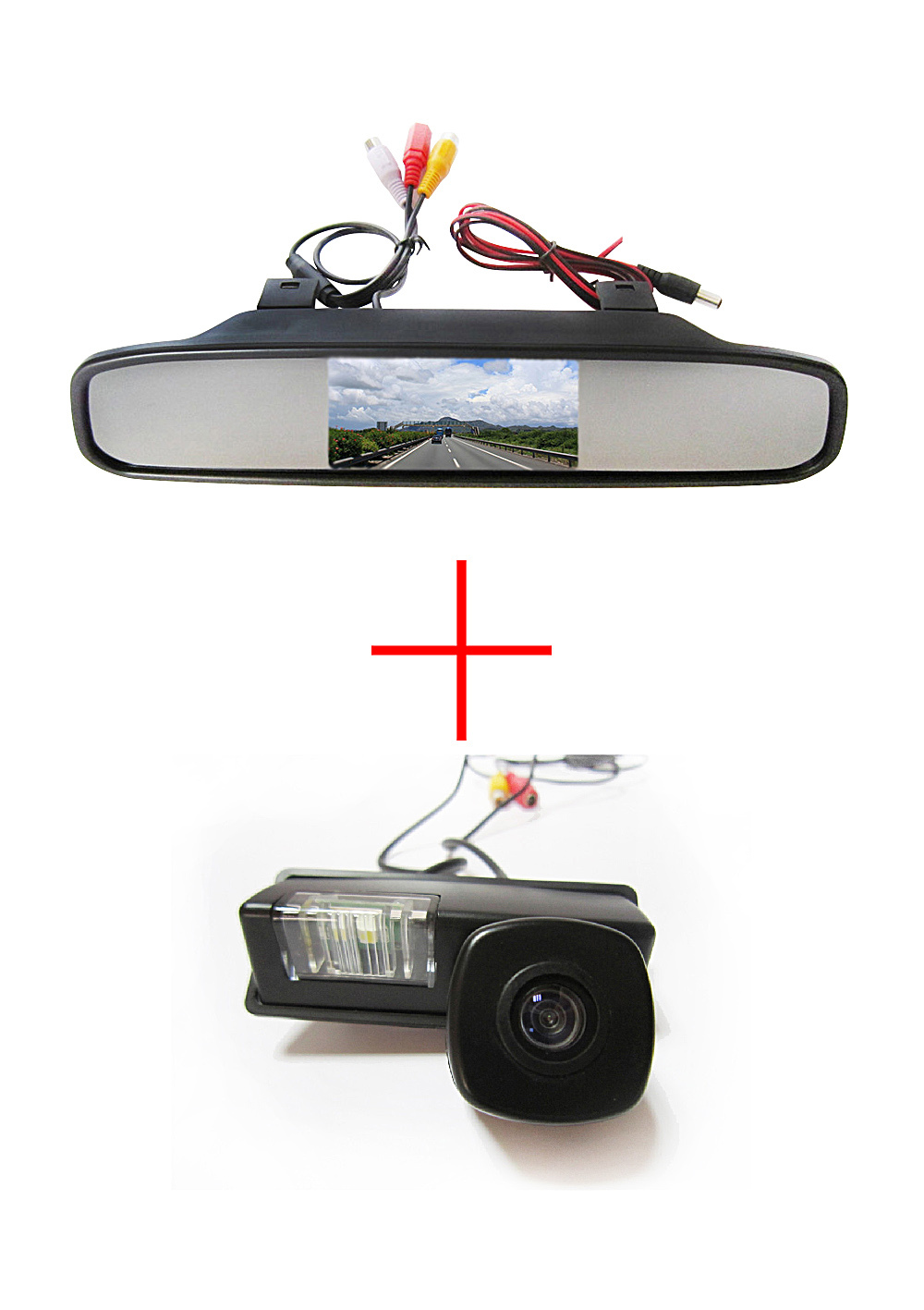 Color CCD Chip Car Rear View Camera Nissan Maxima Cefiro Teana Paladin Tiida Sylphy + 4.3 Inch rearview Mirror Monitor - Fuway HK Trading Co., Ltd store