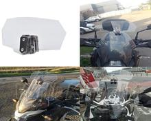 Поток воздуха, регулируемое Прозрачный ветрового на болтах переменной спойлер для Honda Yamaha Suzuki Kawasaki BMW Ducati Harley