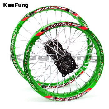 "Motorcycle 12 14 wheel 12mm 15mm Front 1.40-14"" inch Rear 1.85-12"" inch aluminium Alloy Wheel Rim For 160cc 150CC Dirt Pit bike"