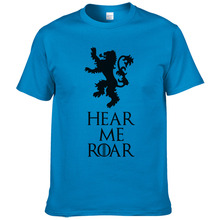 Game of Thrones Men T Shirts Hear Me Roar House Lannister Printed Tees summer casual 100% cotton high quality t-shirt #256