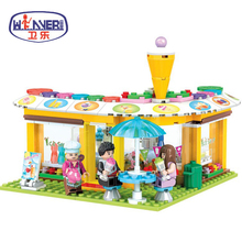 Friends Series City Park Cafe Cold Stores Model Building Block Girl Toys Children Gifts Minis Bricks Compatible Legoes