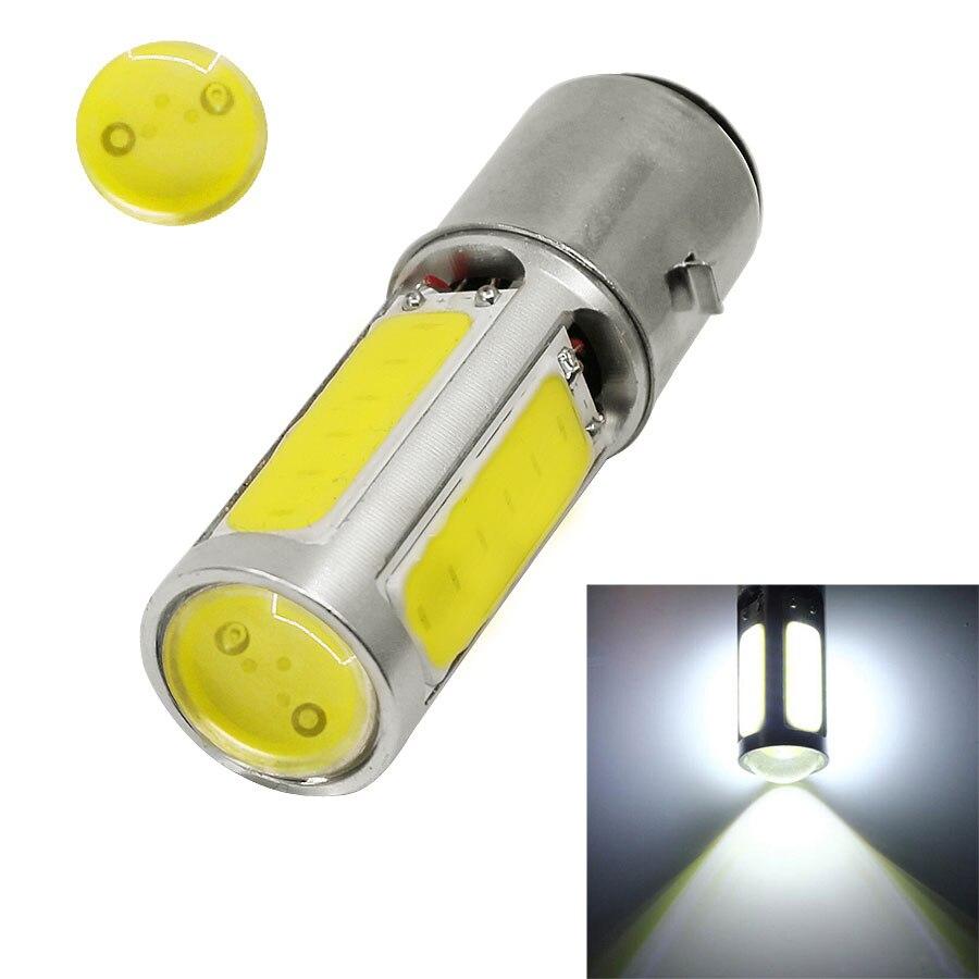 1PCS White DC12V 25W DRL BA20D H6 E301 COB LED Light For Motorcycle Moped ATV Motor Bike Headlight Bulb Fog Light 6500K