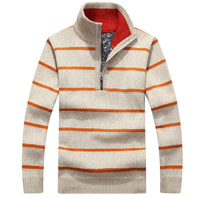 2018 New Off Fashion Pullovers Mens Striped Sweaters Half Zipper Knitwear Autumn And Winter Mens Sweaters
