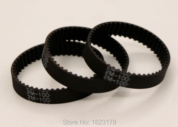 10pcs GT2 100 belt closed loop rubber 2GT-100-6 timing belt Teeth 50 Length 100mm width 6mm for 3D printer 7