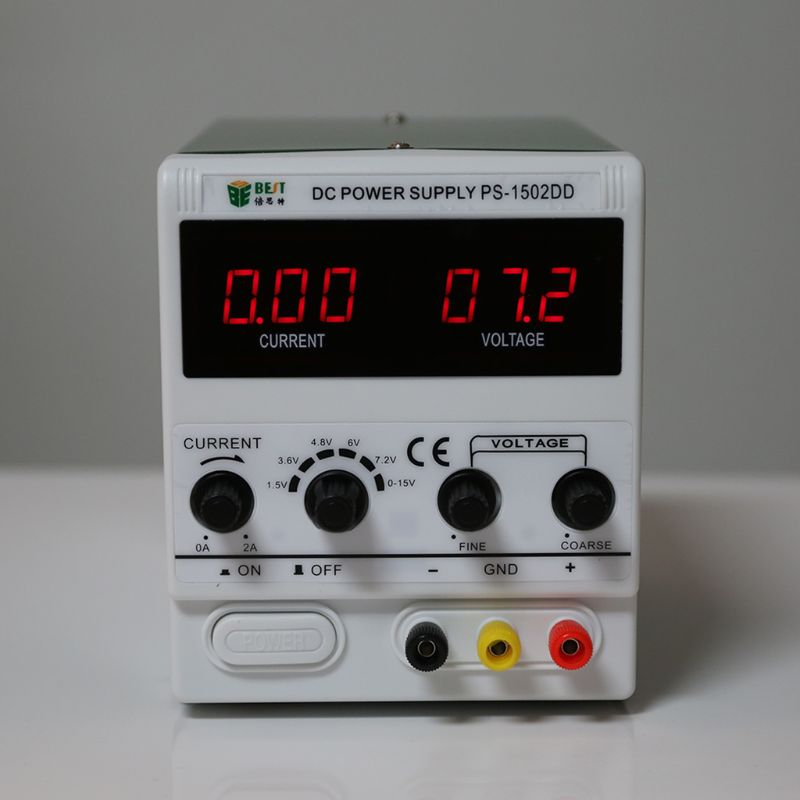 BEST-1502DD Mobile Phone Repair DC Adjustable Power Supply Voltage Regulator Regulated Power Supply 0-15V 2A 220V New