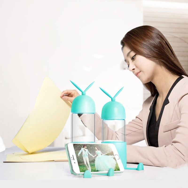 Portátil multifuncional deporte yoga al aire libre botella de agua de cristal so