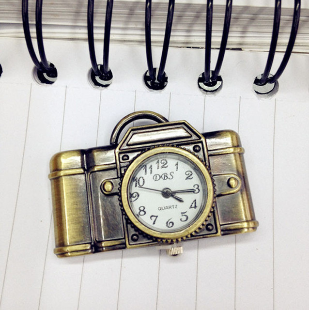 Moment # L05 2018 Fashion New Unisex Antique Bronze Camera Design Pendant Pocket Watch Necklace Gift