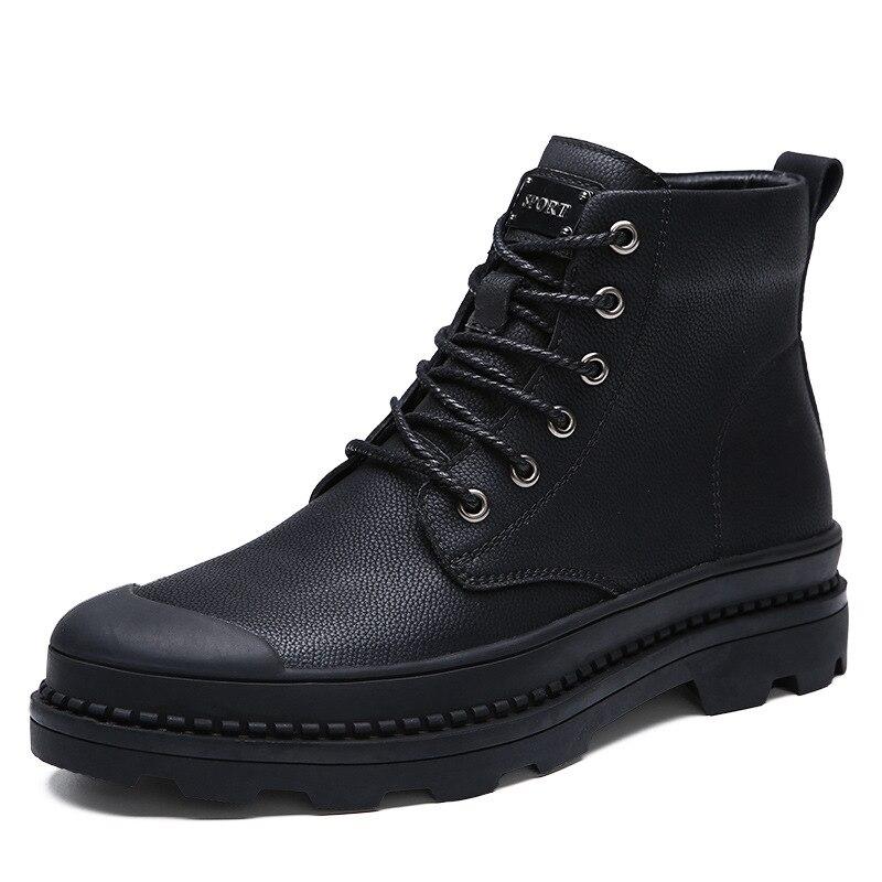 De Single 2018 En Au Aider Martin Chaud À Haute Neige Hiver Bottes Garder black Noir Velvet Black Coton Velours Mettre Boots Hommes Chaussures FFvqrEw1x