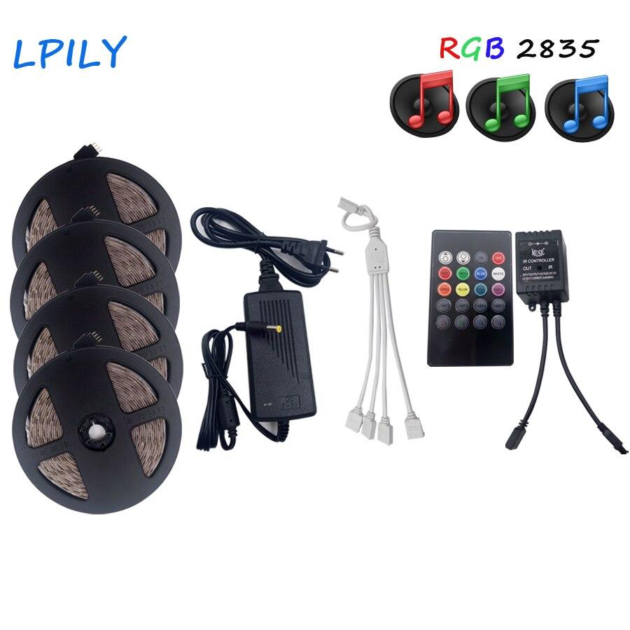 Tiras de Led controller + adaptador dc12v 3528 Consumo de Energia (w/m) : 3.8w/m