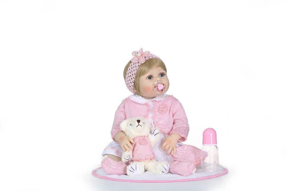 Corpo pieno di silicone Del Vinile Boneca BeBes Reborn Doll Per Le Ragazze giocattoli per i bambini Molle Del Silicone Rinato Bambole Del Bambino Bambola Realistica-in Bambole da Giocattoli e hobby su  Gruppo 2