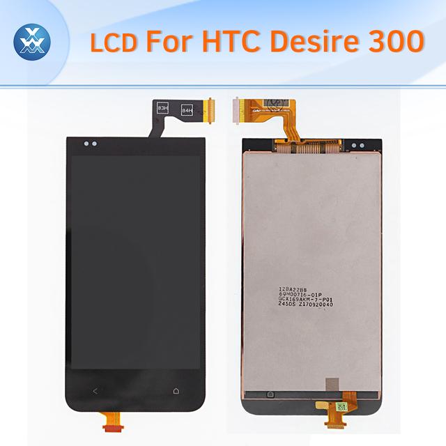 Display lcd original tela lcd de toque digitador assembléia para htc desire 300 completa pantalla de substituição preto 4 polegada
