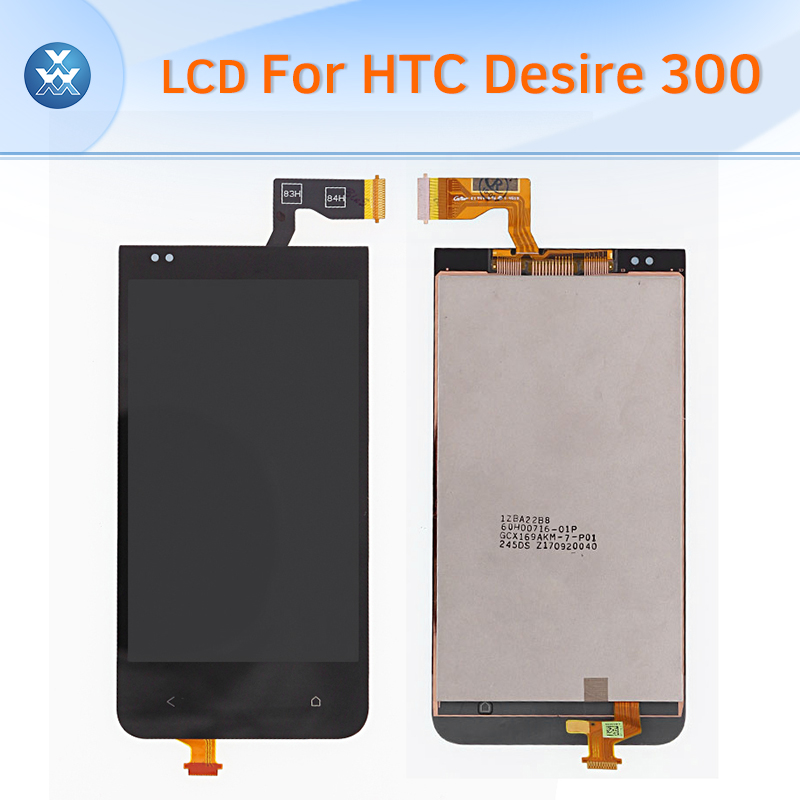 Original LCD display assembly for HTC Desire 300 LCD screen touch digitizer complete replacement pantalla black