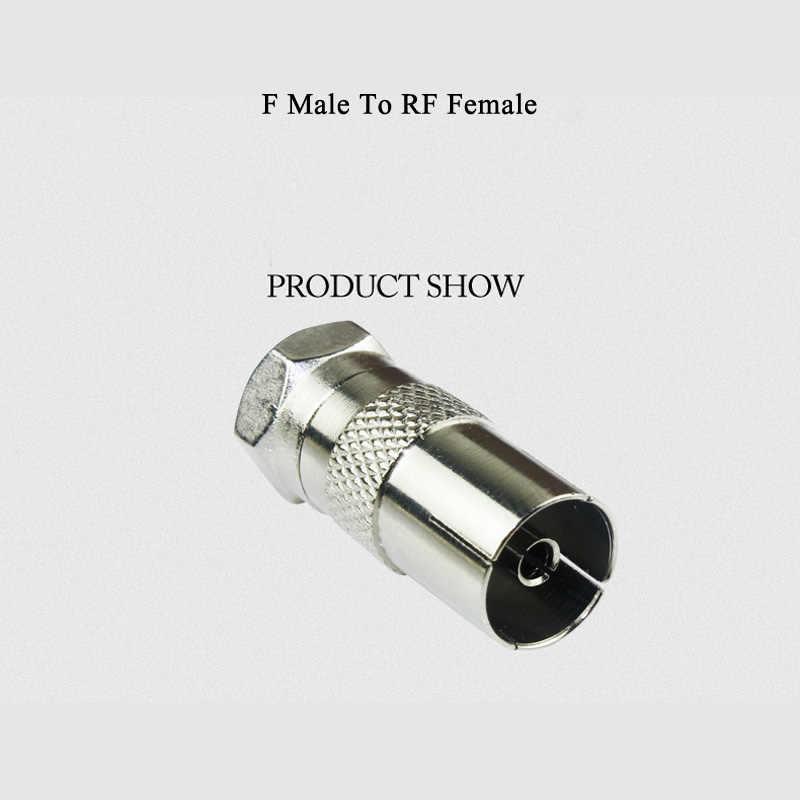 5 pièces F RF mâle femelle à mâle femelle prise TV coaxial câble connecteur numérique câble Terminal pour câble TV vis coax fiche f-type