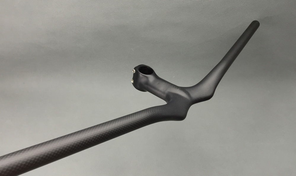 High quality 3K Matte Carbon Mountain Bicycle rise Handlebar Integrated Bar Stem MTB bike Handlebar bike parts Free Shipping fouriers mtb handlebar hb mb008 mountain bicycle handlebar ud carbon fiber bike handlebars 31 8x750mm