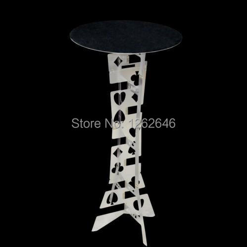 Folding Table Metal (Circular Plate) ,magic tricks,Illusions,Stage Magic props,comedy,Magic Accessories aluminum alloy magic folding table blue black bronze color poker table magician s best table stage magic illusions accessory