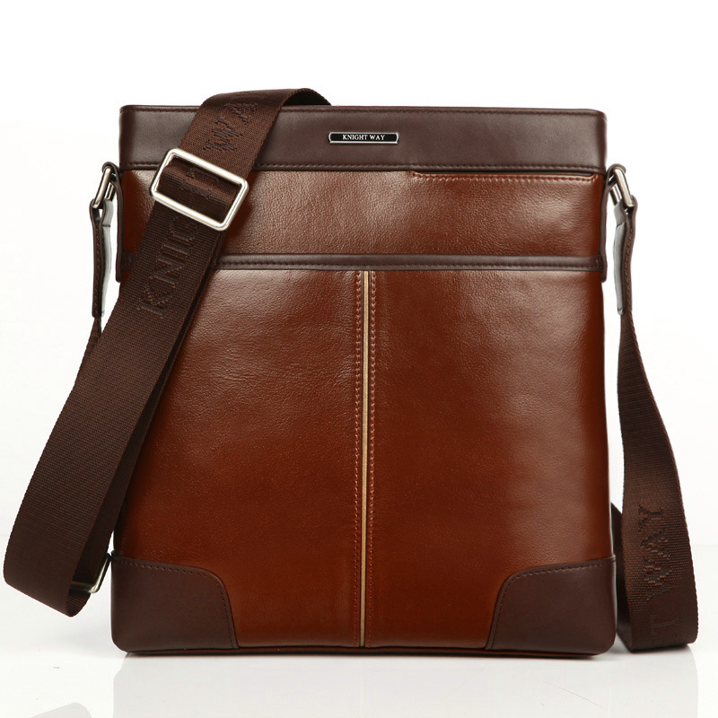 Genuine Leather Men Shoulder Bags New Fashion Hot Male Handbag Small Crossbody Messenger Bag Travel Bolsa Brown Mens Satchels