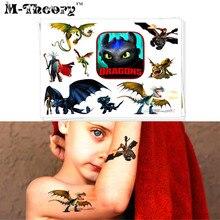 M-theory Dragon Knights Temporary Makeup 3d Tattoos Stickers Henna Tatuagem Body Arts Tatto Flash Tattoos Sticker Toys Decals