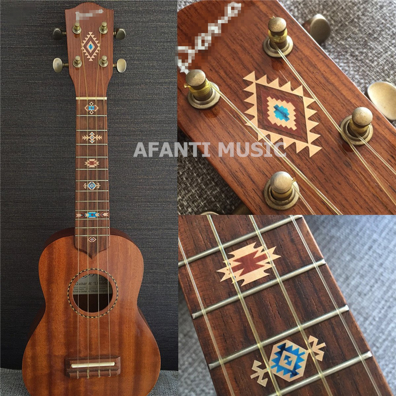 Afanti musique guitare Ukelele doigt conseil autocollant/coquille autocollant incrustation (FPD-120)