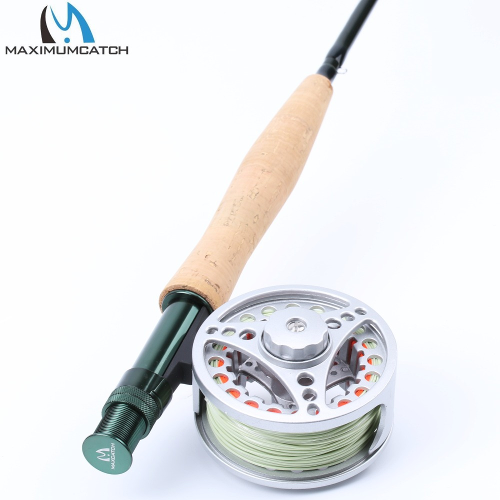 Maximumcatch Extreme Fly Fishing Combo 9FT 5WT Fly Rod with Large Arbor Aluminum Reel with WF5F Floating Line maximumcatch fly fishing rod combo 9ft fly rod