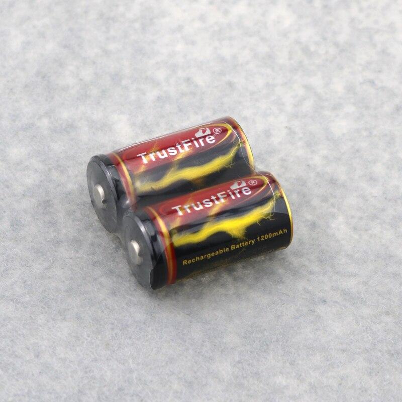 2pcs Trustfire 3.7V 18350 1200mah li-ion rechargeable battery for led flashlights ,for E-cigarette ect DropShipping