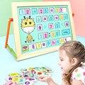 Обучающая доска деревянная игрушка детская доска для рисования для раннего образования Игрушка-пазл для малышей Подарок детская развивающ...