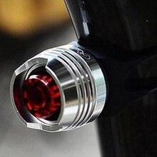 LEVOU À Prova D' Água Da Bicicleta Da Bicicleta Ciclismo Frente Traseira Da Cauda Da Lâmpada de Flash Luzes de Advertência de Segurança Ciclismo Segurança Capacete Vermelho Cautela Luz