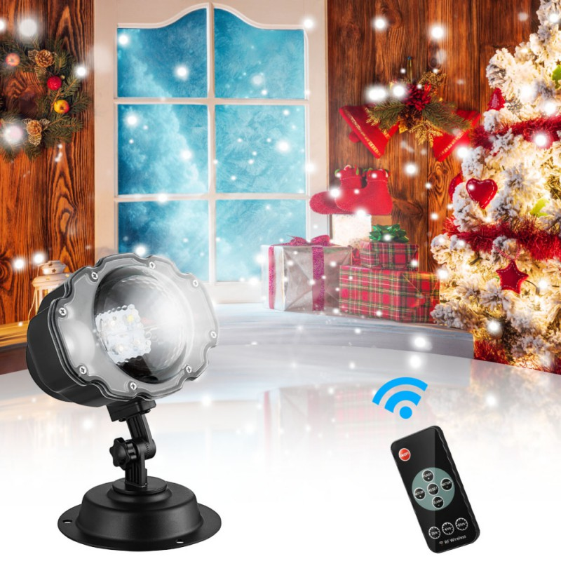 Hot Holiday Snowfall Projector Lights Christmas Landscape Motion Projector Lights with Remote Control for Holiday Decoration
